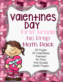 Valentines Day No Prep First Grade Math