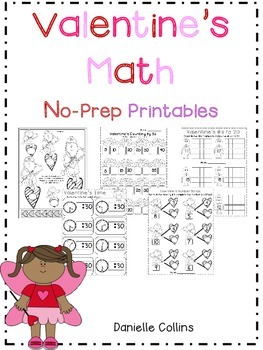Valentine's Day No Prep Kinder Math Packet