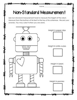Valentine's Day Non-Standard Measurement FREEBIE!