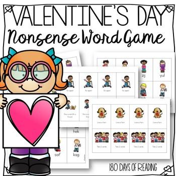 Valentines Day Nonsense Word Game