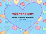 Valentine's Day Noun Pronoun Verb Sort