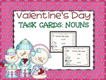 Valentine's Day Noun Task Cards