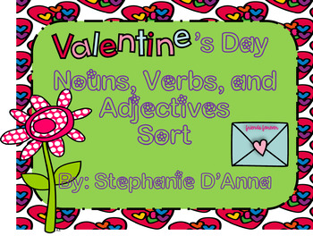Valentine's Day Noun, Verb and Adjective Sort