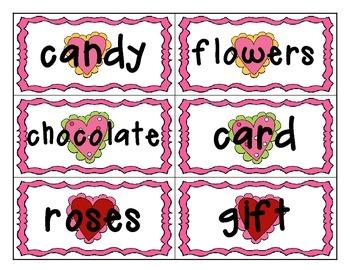 Valentine's Day Noun and Verb Sort