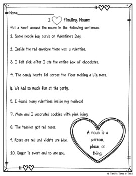 We Love Nouns: Nine Fun Valentine's Day Noun Activities