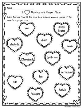 Valentine's Day Nouns: Fun Noun Printables