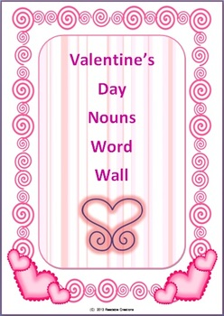 Valentine's Day Nouns Word Wall Cards