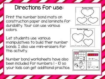 Valentines Day Number Bonds Practice