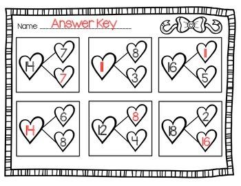 Valentine's Day Number Bonds Printable *FREEBIE!*
