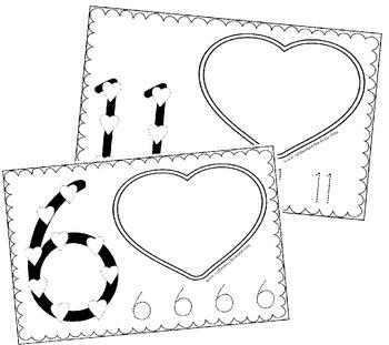 Valentines Day Number Book (Preschool, Kindergarten)