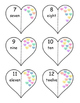 Valentine's Day Number Identification/Recognition Matching Activity