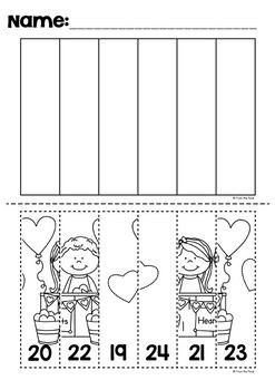 Valentine's Day Activities - Number Worksheets