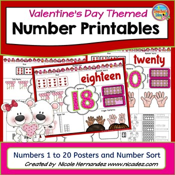Valentines Day Activities- Sorting and Cut & Paste Activities