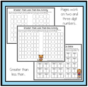 Valentines Day Number Sense Activities and Dice Games