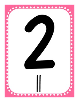Valentine's Day Number Tally Posters and Worksheets