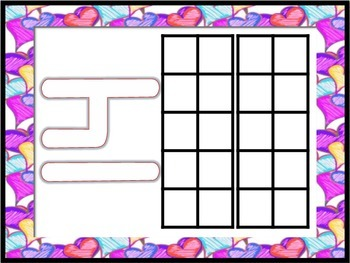 Valentine's Day Number/Ten Frame Playdoh Work Mats (Focus Numbers 0-20)