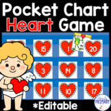 Valentine's Day Pocket Chart Game: Numbers 1-20