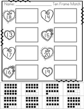 Valentine's Day Math - Numbers FREEBIE!