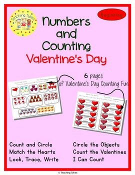 Valentine's Day Number sense and Numeration Numbers and Counting