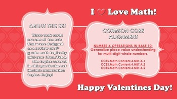 Valentine's Day Math Task Cards (Numeration)