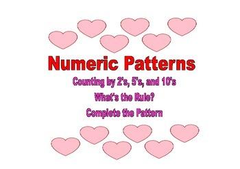 Valentine's Day Numeric Patterns
