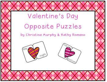 Valentine's Day Opposite Puzzles