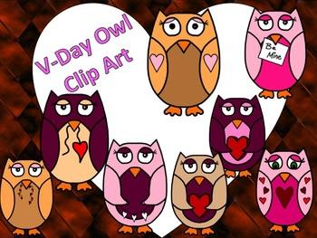 Valentines Day Owl Clip Art