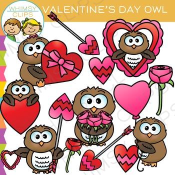 Owl Valentine Clip Art by Whimsy Clips   Teachers Pay Teachers