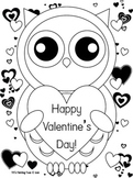 Valentine's Day Owl Coloring Page! {Valentine's Day/Owl Theme}