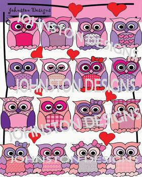 Valentine's Day Owls