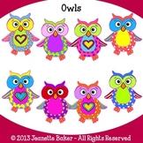 Owls Clip Art by Jeanette Baker