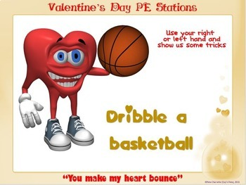 """Valentine's Day PE Stations- 15 """"Heart Power"""" Station Cards"""