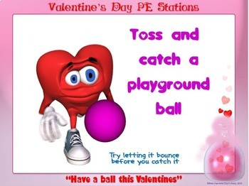 "Valentine's Day PE Stations- 15 ""Heart Power"" Station Cards"