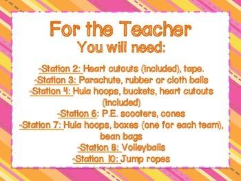 Valentine's Day P.E. Stations