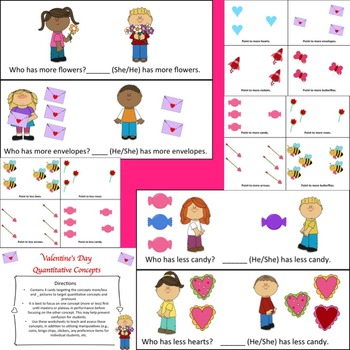 FREE Valentine's Day: More/Less Concepts and Pronouns