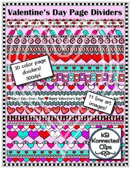 Valentine's Day Page Dividers 2
