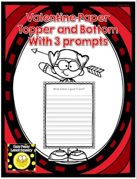 Valentine's Day Page Topper and Bottom with Writing Prompts