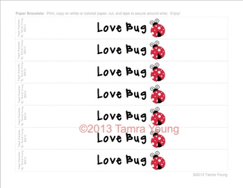 Valentine's Day Paper Bracelets {Love}