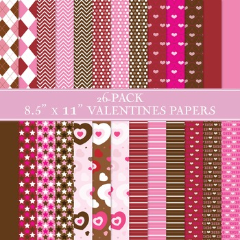 Valentine's Day Paper Set - 26-Pack