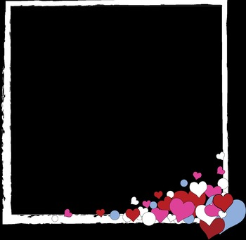 Valentine's Day Paper and Frame Clip Art Set {Messare Clips and Design}