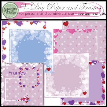 Valentine's Day Paper and Frame Clip Art Set {Messare Clip