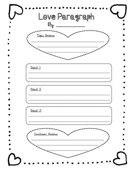 Valentine's Day Paragraph Graphic Organizer