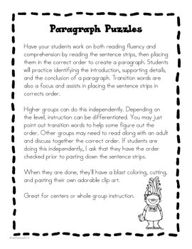 Paragraph Puzzle   February: Valentineu0027s Day Card