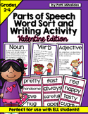 Valentine's Day Parts of Speech Center & Mini-Writing Activity (incl worksheets)