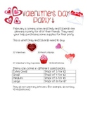 Valentines Day Party! A Division Open Ended Question