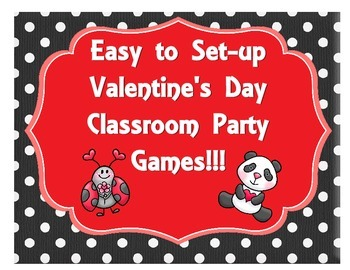 Valentine's Day Party Games - Bingo, Roll a Box of Chocola