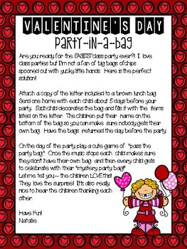 Valentines Day - Party In A Bag
