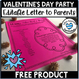 Valentines Day Party Letter To Parents Editable #lausd LAUSD teacher strike