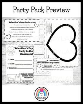 Valentine's Day Party Pack: Poem, Crafts, Writing, Scrapbook