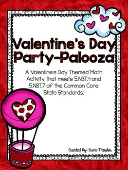 Valentine's Day Party Palooza - A Decimal Based Activity